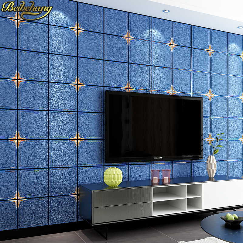 beibehang European Modern Simple wallpaper for walls 3 d Imitation Tiles Lattice Wall paper roll Bedroom Living Room wallpapers wallpaper for walls 3 d modern trdimensional geometry 4d tv background wall paper roll silver gray wallpapers for living room