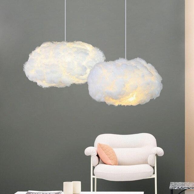 Nuvens Nordic Luminária tecidos Nuvens de algodão Personalidade Decoração Pingente de Luz para o Restaurante Do Hotel Lobby mx5181021 Hanglamp