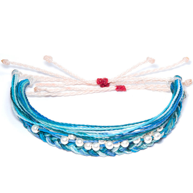Save The Dolphins Braided Waxed String Bracelet