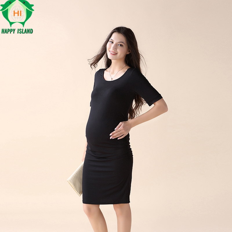 maternity dresses o neck pregnancy clothes for pregnant women - Christmas Maternity Dresses