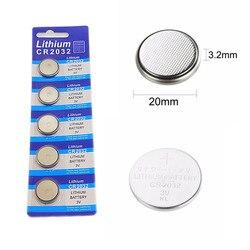 5 stücke karte 2032 CR2032 3V 220mAh lithium-Taste Münze Batterie in Groß für uhren, spielzeug, taschenlampen usw.