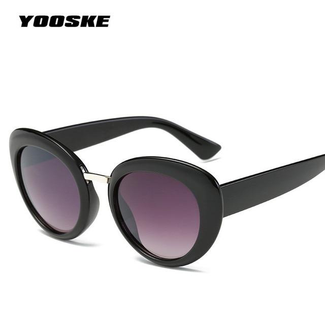 ac2eb2d000f YOOSKE Kurt Cobain Sunglasses NIRVANA Women Men Clout Goggles Round Cat Eye  Sun Glasses Frame Mirror