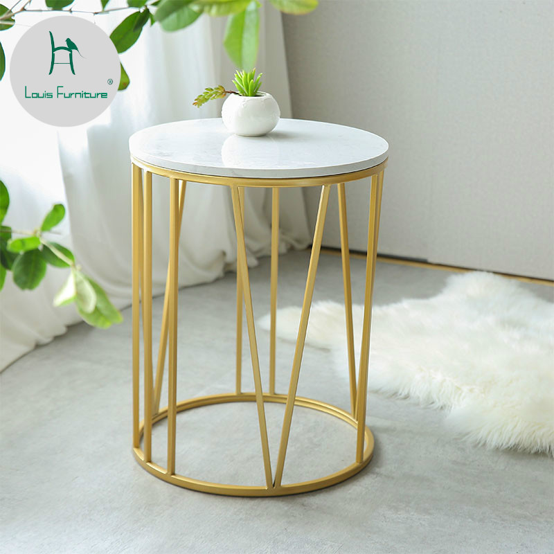 Louis Fashion Coffee Tables Nordic Marble Simple Modern Small