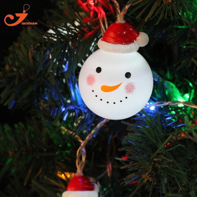 snowman string lights fairy led christmas light home garden white lights santa battery powered party 3v