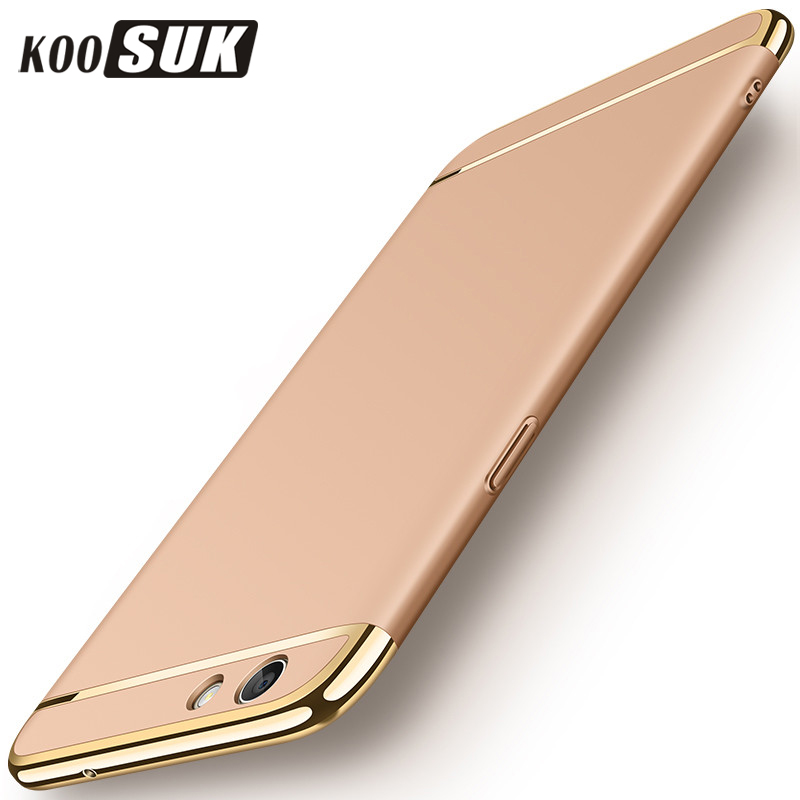 OPPO A83 A79 A53 A59 A57 A37 A73 F5 F7 Phone Case Back Cover For Oppo a59 f1s A77 F3 Gold Plating 3 in 1 PC Hard Protect Case