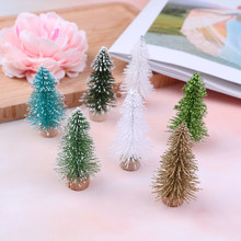 Hot Sale 1Pcs/3Pcs Mini Christmas Tree With Flash Powder New Year's Products Desktop Merry Christmas Gift Lucky Festival Decor(China)