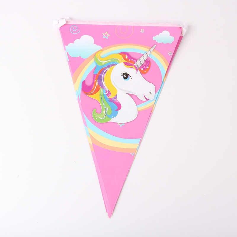 Eenhoorn Partij Gelukkige Verjaardag Papier Banners Papier Kopjes Plaat Servet Tafelkleed 1st Verjaardagsfeestje Decoratie Kids Feestartikelen