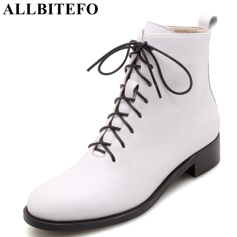 ALLBITEFO fashion soft cow leather comfortable women boots low heel shoes Autumn winter girls ankle boots casual motocycle boots hot sale 2 5 10x40 riflescope illuminated tactical riflescope with red laser scope hunting scope page 2