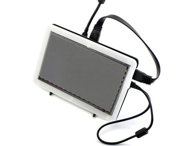 7 polegadas LCD HDMI (B) (com caso bicolor) 800*480 Tela de Toque Capacitivo para Raspberry Pi 3/2 B & Suporte Vários Sistema de Banana Pi