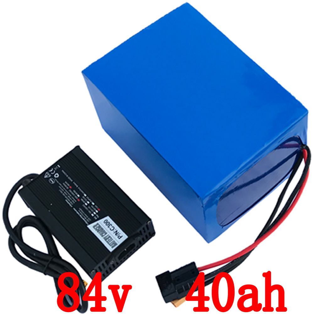 EU US no tax 84V 40AH Lithium Battery Pack , 92.4V 3000W Electric bicycle Scooter solar energy Battery , 50A BMS and 5A Charger us eu no tax 48v 25ah 2000w lithium battery pack with 5a charger built in 50a bms electric bicycle battery 48v free shipping