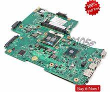Nokotion placa-mãe para laptop, placa mãe para laptop toshiba por satélite l650 c650 l655, placa principal v001800210 pro hm55 uma ddr3 com cpu gratuito