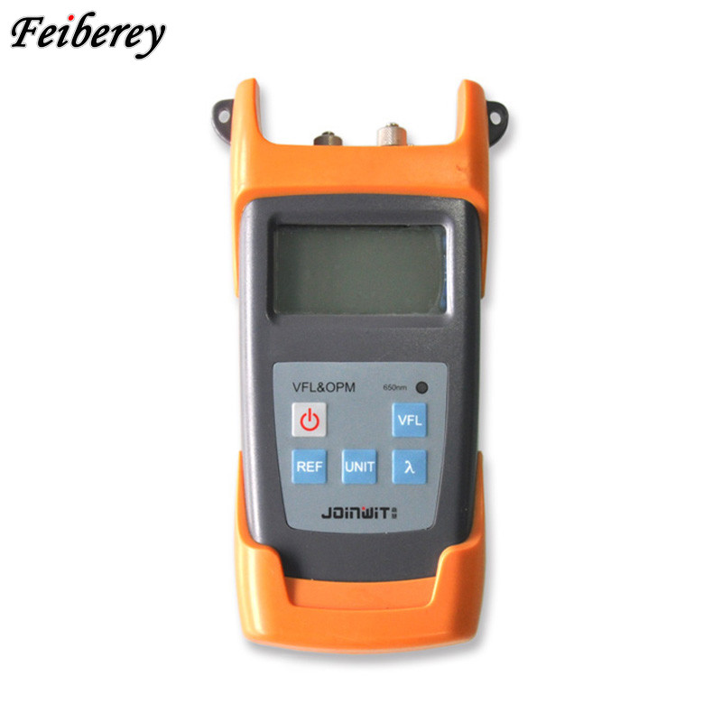 JW3223A FTTH 2 in 1 OPM&VFL Optical Power Meter -70 ~ +6 dBm with 1mW or 10mW VFL Visual Fault Locator Integrated in One Unit