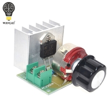 WAVGAT Hot Voltage Regulator Voltage Speed Controller AC 220V 4000W SCR Dimmer
