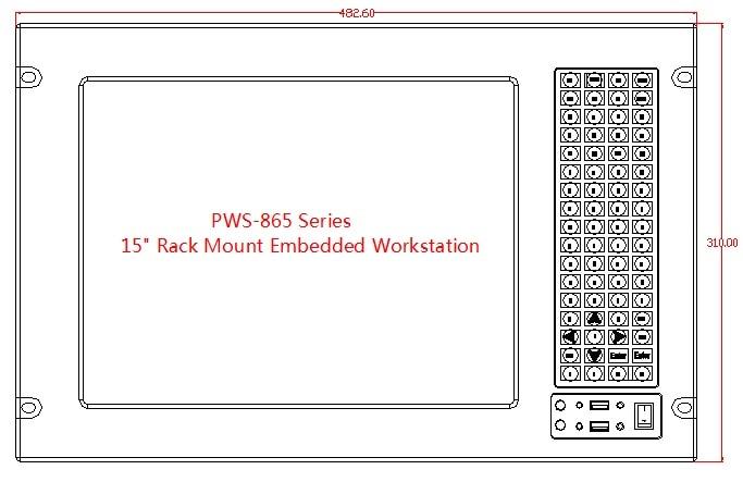 Computador industrial de montagem em rack 7U, LCD de 15 polegadas, - Computadores industriais e acessórios - Foto 2