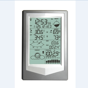 Image 3 - Wireless Weather Station With PC Link Household Big LCD Thermometer Hygrometer Barometric Pressure Weather Forecast Clock WS1040