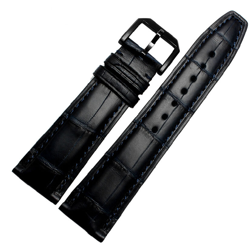 Watch Accessories 20mm 21mm 22mm New Mens Crocodile Genuine Leather Watchbands Deployant Bracelet Strap Watch Band Watch Buckle стоимость
