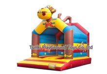 Residential bounce house bouncy castle combo slide inflatable bouncer for kids
