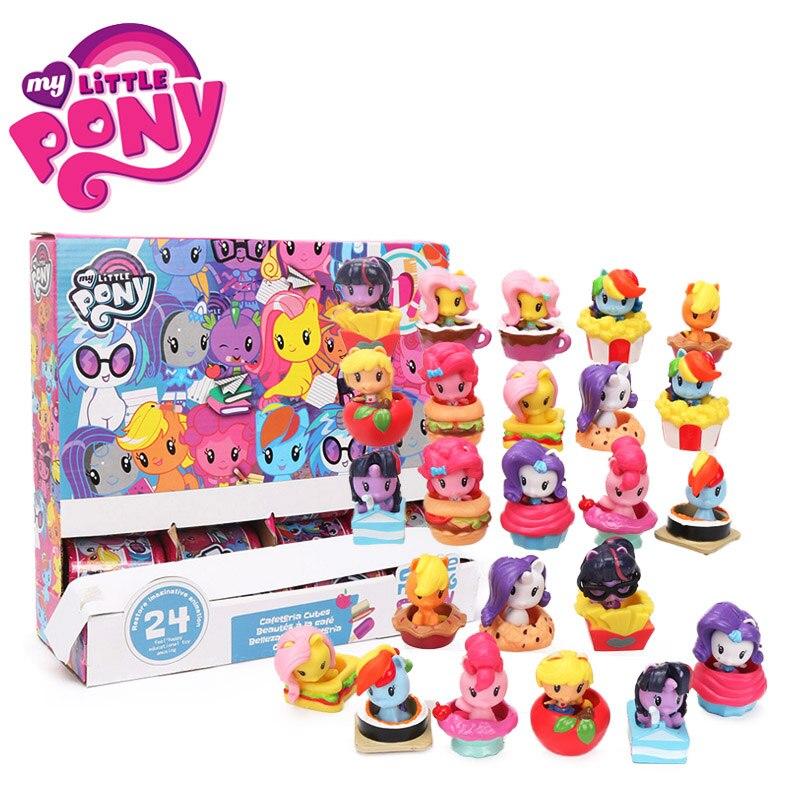 24 шт. My Little Pony игрушечные лошадки милашка Mark Crew мини игрушка пони Дружба Магия Радуга тире Сумерки блеск рисунок Рождественский подарок