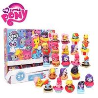 24pcs My Little Pony Toys Cutie Mark Crew Mini Pony Doll Friendship is Magic Rainbow Dash Twilight Sparkle Figure Christmas Gift