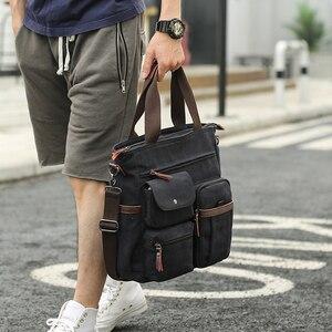 Image 5 - Jorgeolea גברים בד עסקי תיק תכליתי תיק מזדמן עבור גברים נסיעות ילקוט E502