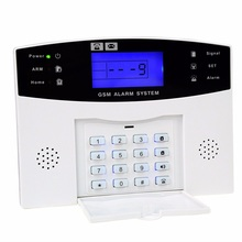 BA-8006-GSM Home Security GSM Alarm System Alarm Host with LCD Call for Intruder Burglar 8 Wired And 99 Wireless Defense Zones free shipping lcd dispaly home wireless gsm alarm system 850 900 1800 1900mhz