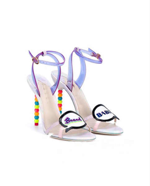9255606eaf4235 Sestito New 2018 Ladies Multi Color String Bead Stiletto High Heels Dress  Party Shoes Woman Buckle