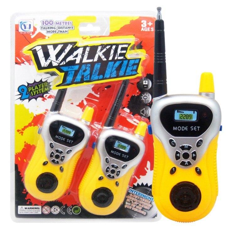 Лидер продаж 2 шт. рация Intercom электронный приемо-передающая радиоустановка общаться устройства, игрушка для детей, хороший подарок - Цвет: Цвет: желтый