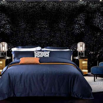 Luxury Egyptian Cotton Jacquard Bedding set Queen/King size Bed set Gray Blue Duvet cover Cotton Bed sheets set parure de lit - DISCOUNT ITEM  42% OFF All Category