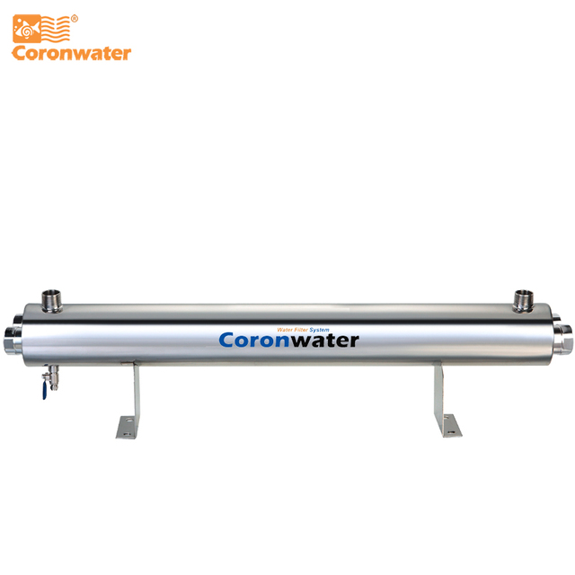 SS304 24 GPM UV Water Sterilizer 110W Commercial UV Disinfection System SSV 5925 2P