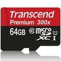 Genuino de la marca de alta velocidad 45 MB/S transcend tarjeta sd micro sdhc sdxc Class 10 UHS-I 300x transcend tarjeta de memoria tf tarjeta de 32 GB 64 GB