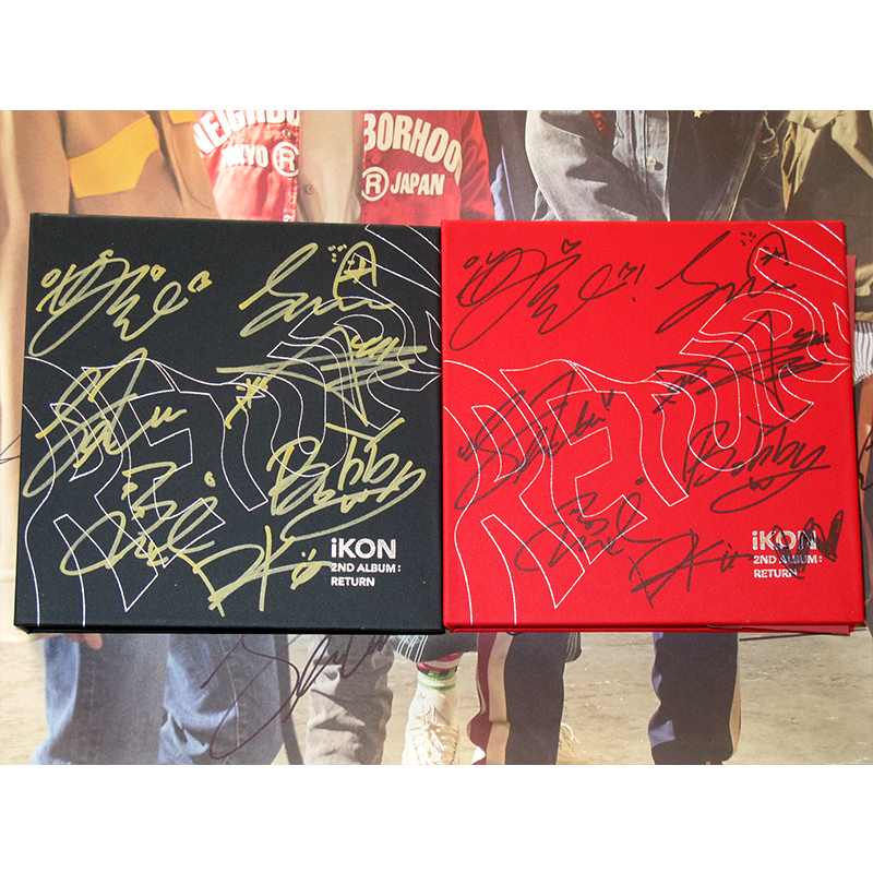 US $89 99  signed K POP 2nd album RETURN autographed CD+photobook+signed  poster 022018-in Cards & Invitations from Home & Garden on Aliexpress com  