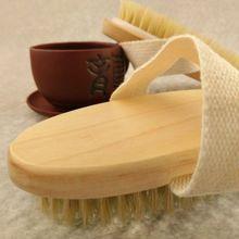 Dry Skin Body Brush Natural Soft Bristle Scrubs Brush Handle Pouch Brush SPA Brush Hot Sale