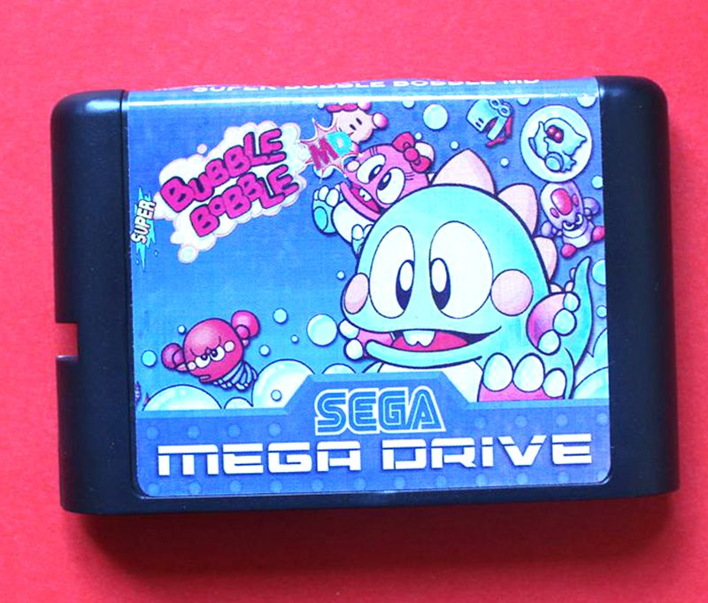 Bubble Bobble 16 bit Sega MD game Cartridge for Megadrive Genesis system image