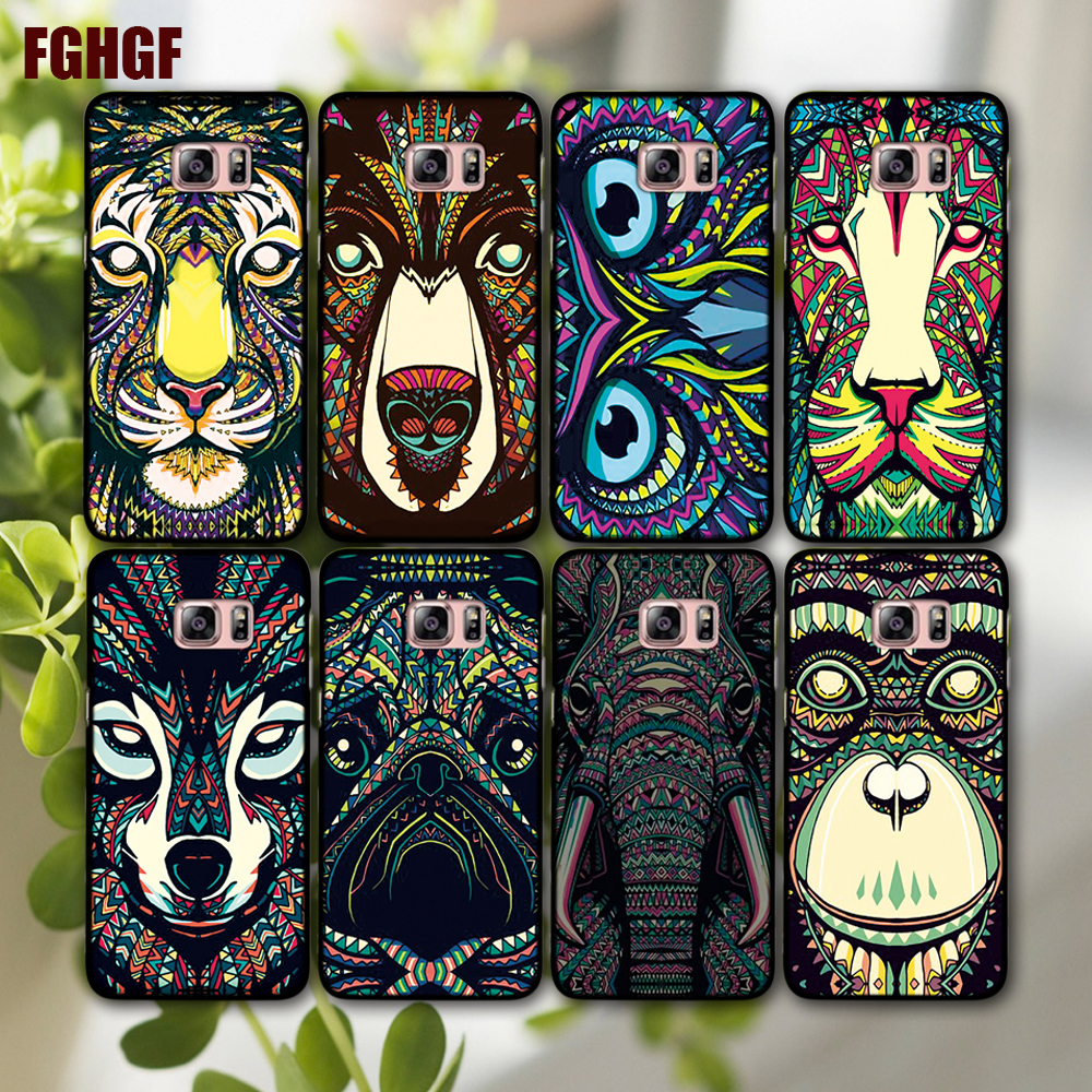 New super hot fashion animal designs Phone cover  Hard shell for sansung Galaxy  s4 s5 s6 s6 Edge s7 s7 Edge note 3 4 5