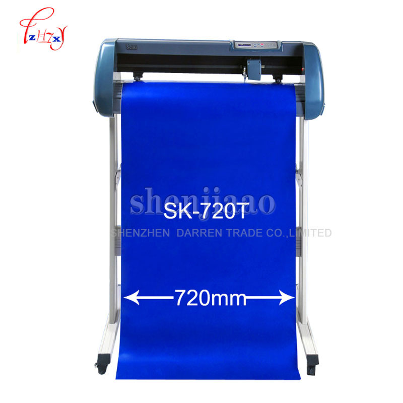 720mm Vinyl Cutting plotter vinyl cutter plotter Model SK-720T Usb top quality 110V~220V 1pc with english manual free shipping sticker cutting machiner vinyl cutting plotter liw 720t support 90v 240v voltage ce
