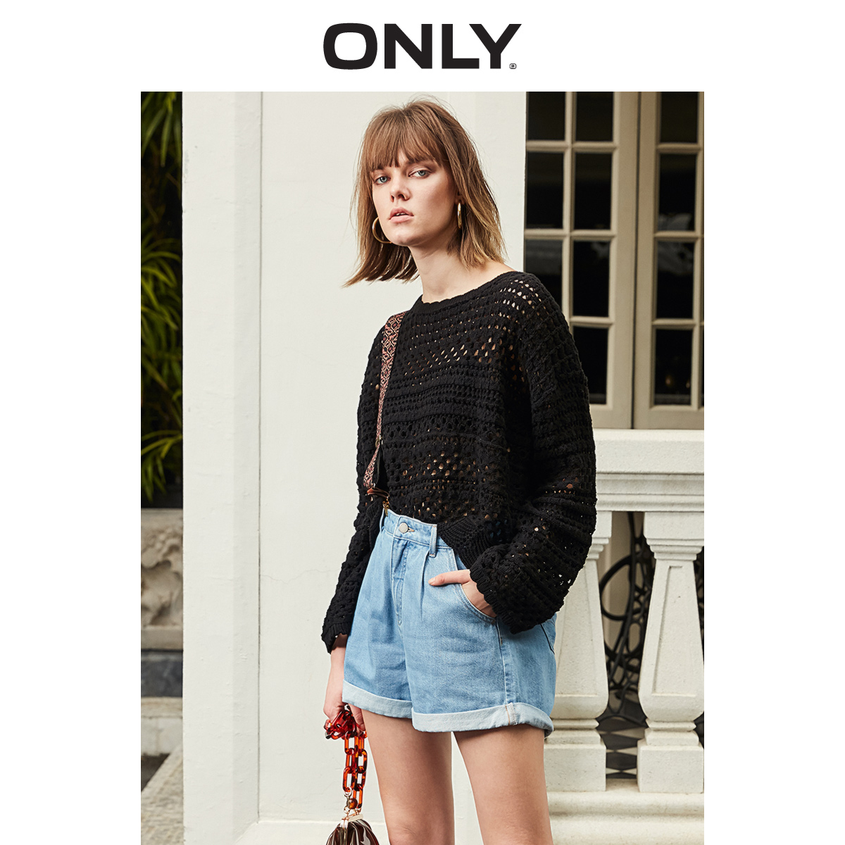 ONLY  Spring Summer New Women's Loose Fit Long-sleeved Pullover Knit |119124541