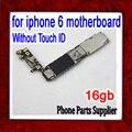 16 gb original desbloqueado para iphone 6 motherboard sem função touch id, 100% test & bom trabalho, frete grátis