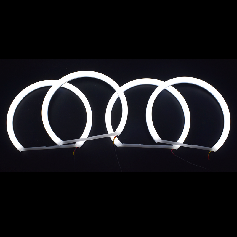 Car styling 1 SET 2X 146mm 2X 131 mm White Halo Cotton Light car smd LED Angel eyes for BMW E46 non projector auto lighting in Car Light Accessories from Automobiles Motorcycles