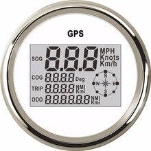 85 มม. เรือรถจักรยานยนต์เครื่องวัดความเร็ว 0 ~ 999 นอต MPH Km/h ปรับ GPS Speed Gauge backlight + GPS Sensor