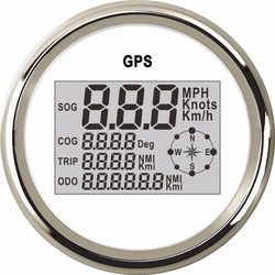 85mm Digital Boat Motorcycle Car Speedometer Gauge 0~999 Knots MPH Km/h Adjustable GPS Speed Gauge With Backlight +GPS Sensor