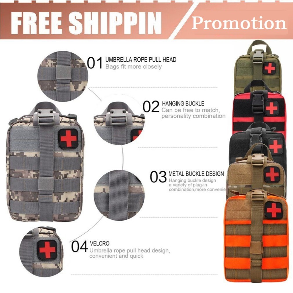 Outdoor Survival Kits Tactical Medical Bag Multifunctional Waist Pack For Travel Camping Climbing Emergency Case First Aid Kit