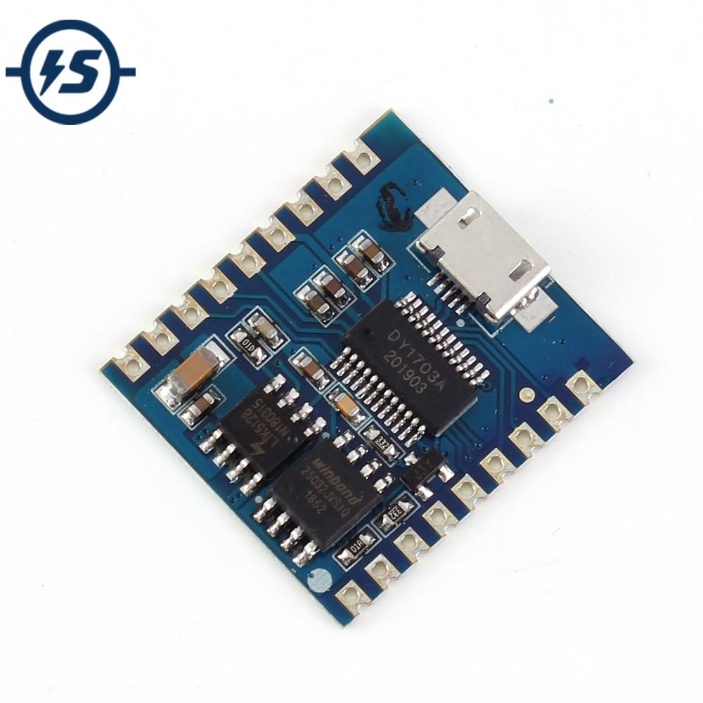 USB MP3 Player Module Audio Voice Board 8Bit I/O IO Trigger UART Contorl 4MBytes Flash USB Download Flash Voice Module