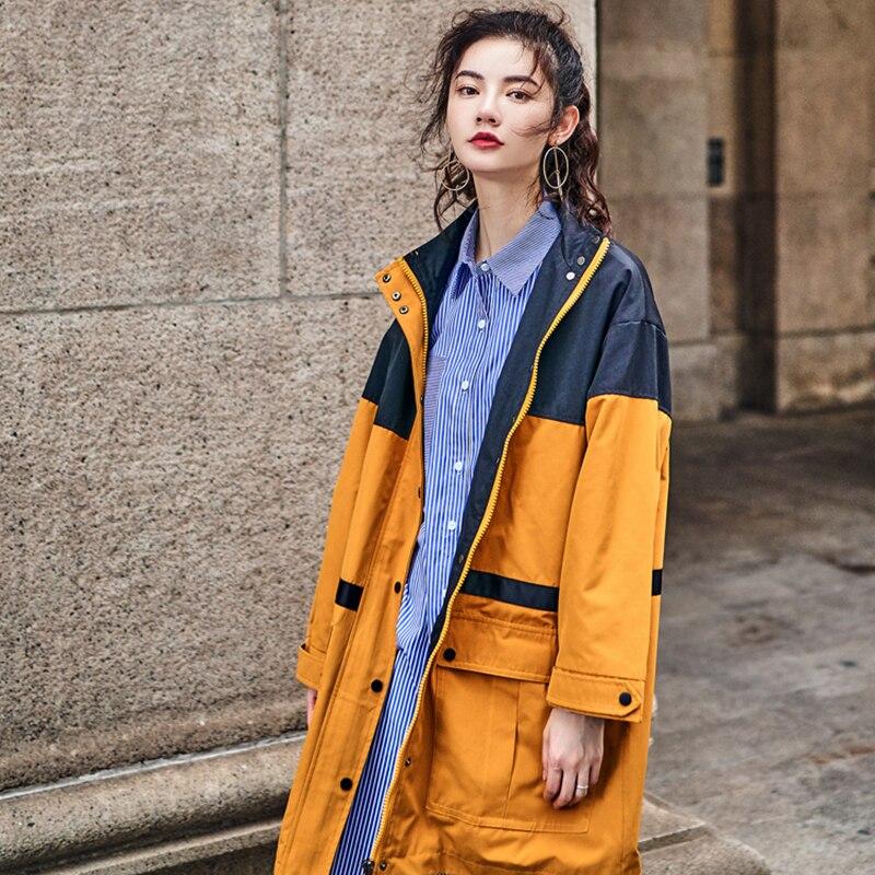 Qualité Taille New Mode Robes Lâche Hiver Poche Grande Hit Q385 Manteau Vintage Haute Plu Couleur Tranchée Casual Femelle Ginger Automne Femmes BTZnpp