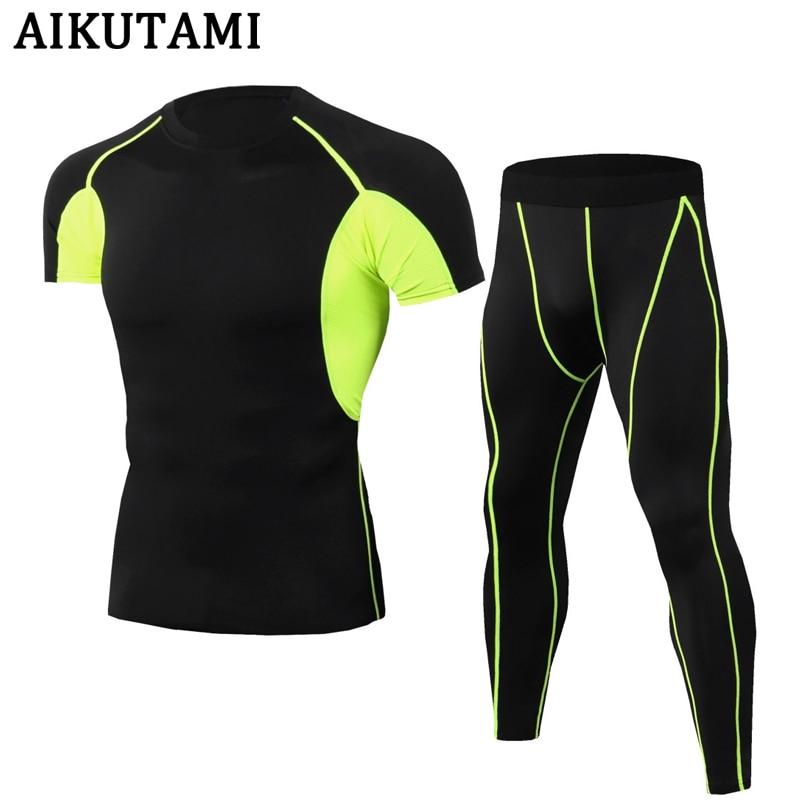 Men Rashguard Mma Short Muay Thai Shirts + Trousers Suit Compression Mma Kick Clothes Training Boxing Running Fitness Sport Set