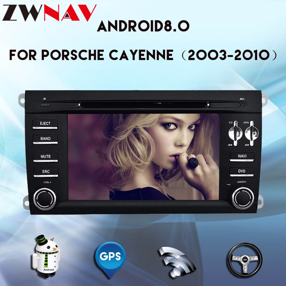 With Optical Fiber Decoder Android 8.0 Car DVD Player for Porsche Cayenne 2003 2010 With GPS navigation BT Head unit Radio Wifi
