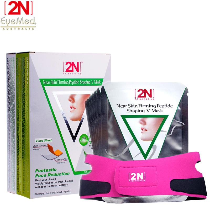 2N face lift slimming belt face mask bandage belts for women + slim patches v firming slimming products face care to weight belt