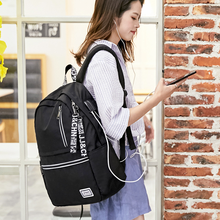 Backpack bag upgrade USB interface waterproof Oxford cloth large capacity backpack male and female students