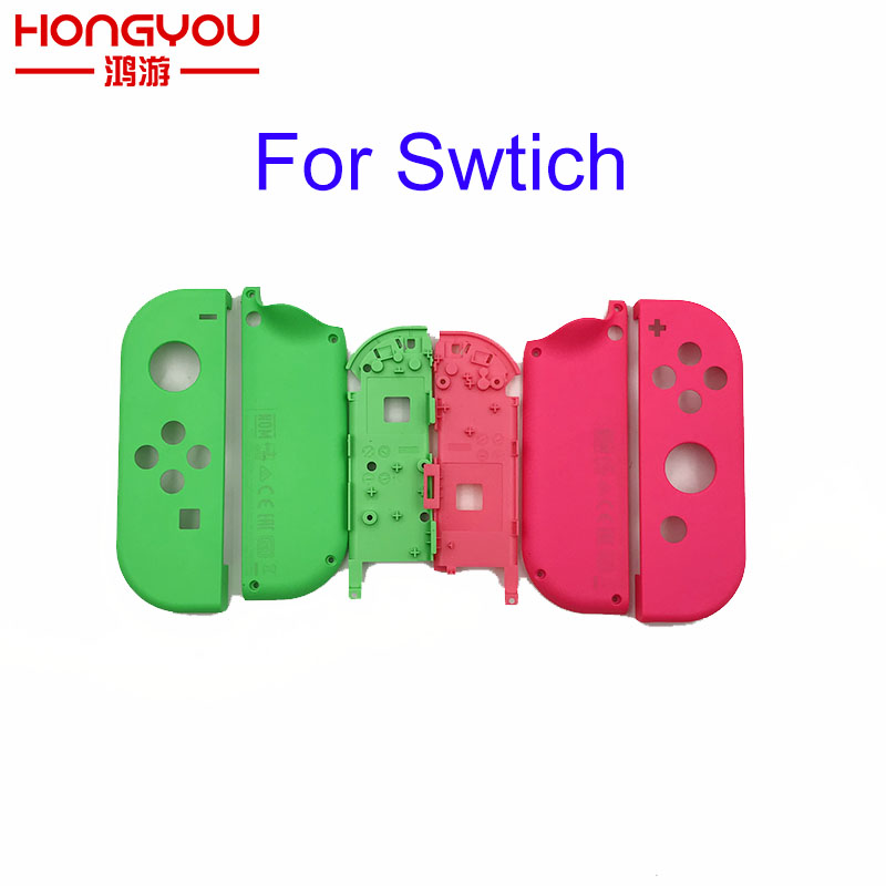 Original Green Pink Plastic R L Housing Shell Case Cover For Switch NS NX Joy Con Controller