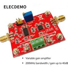 VCA821 Module Adjustable Gain Amplifier THS3201 200M Bandwidth 40dB Gain Output with Load broadband agc bandwidth maximum 150m vca810 40db to 40db automatic control manual program controlled