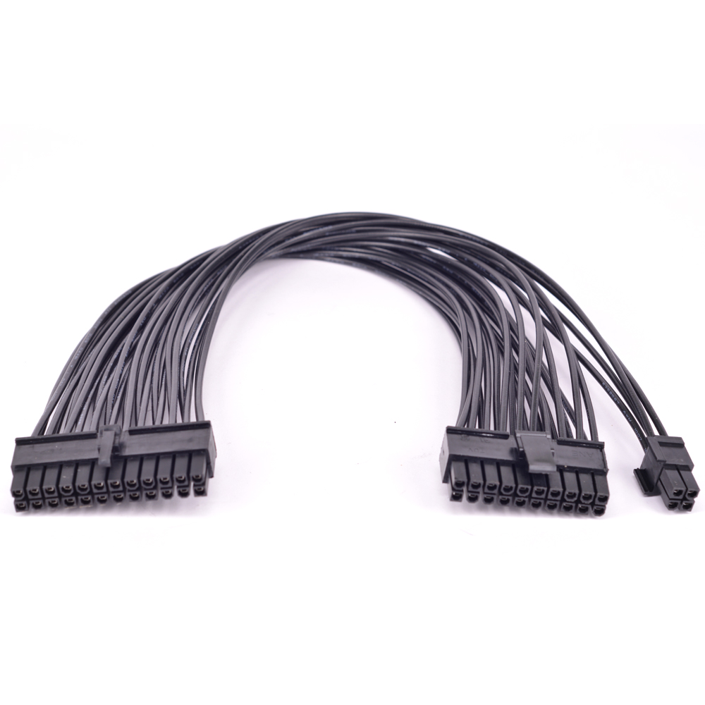 24Pin 20pin Male to 24Pin male Port Power Supply Cable <font><b>24</b></font>-<font><b>pin</b></font> ATX power supply to <font><b>20</b></font>+4Pin <font><b>20</b></font>-<font><b>Pin</b></font> Connector Cable image
